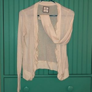 Poof Excellence cardigan with lace trim